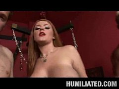 Chained Teen Slave Facialed!