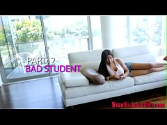 Toying ebony teen stepsis