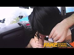 Fake Driving School half Asian tiny student fuc...
