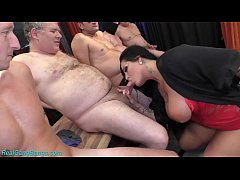 HD gangbang party with busty Milf Ashley Cum Star