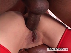 Big black cock fucking two horny girls in stockings GB-4-03