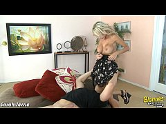 Clip sex Blonde girl Sarah Jessie ride cock