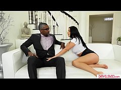 Horny euro babe gets motivated after fucking her black stepdaddy