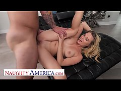 NaughtyAmerica - Carolina Sweets finds her friends dad jerkin off