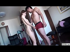 Uncensored JAV first timer with amazingly long legs and a tight body give a most perfect blowjob in HD with English subtitles
