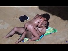 Dark Hair Couple Beach.avi