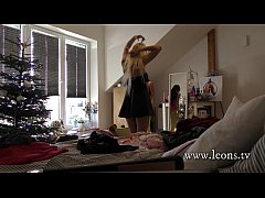 My Teenager Angel Sisters with a Younger Teen Friend Party Voyeur at home