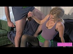 Vanessa Jerks off Brysky on her Nylons