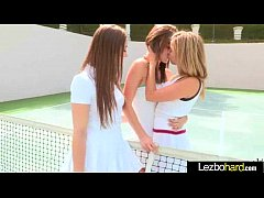 Cute Teen Hot Lez Girls Playing With Their Bodies clip-30