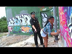Babe Busted By The Cops And Punished Hard
