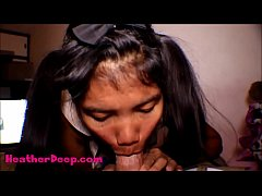 HD Thai Teen Heather Deep gives deepthroat throatpie for new laptop tablet