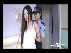Beautiful girl get tied up by police - http:\/\/tiedherup.com