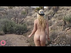 Blonde Samantha Rone Fingers Pussy & Cums Out in the Desert!