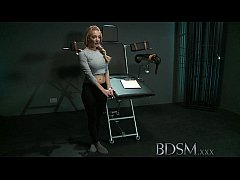BDSM XXX Slave girl with massive breasts gets it hard with orgasm