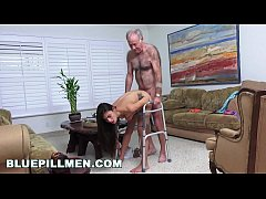 HD BLUE PILL MEN - Grandpa Popping Pills and Fucking Tight Latina Teen Pussy!