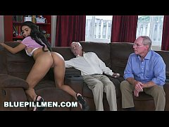 HD BLUE PILL MEN - A Couple Of Old Men Have Fun With Young Black Goddess Aaliyah Hadid