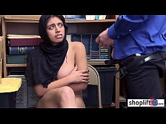 Hot latina young girl with big boobs caught by a corrupt policeman
