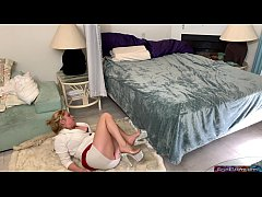 Stepmom gets fucked while stuck under the bed - Erin Electra