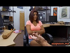 Curvy lady pounded by horny pawn keeper