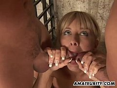 Amateur girlfriend anal gangbang with facials