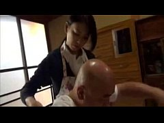 Japanese old man and not his daughter in law the nurse