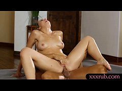 lusty blonde masseuse gets fucked by her pervert client