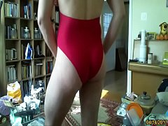 boy in hot one piece swimsuit