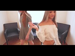 Natural redhead has a threesome with her petite blonde friend
