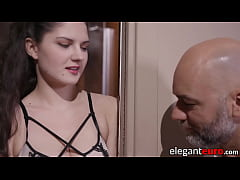 Lingerie clad stepdaughter anal and BJ