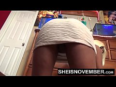 Going Commando Cute Black Spinner Msnovember Dancing And Solo Pussy Pounding Her Coochi Up Skirt Legs Up HD Sheisnovember