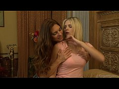 Scarlet Red and Mindi Mink playing with pussies