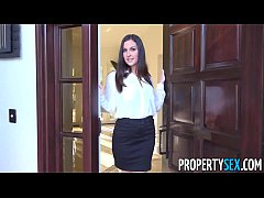 PropertySex - Horny real estate agent busted watching porn