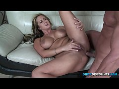 facialized milf assfucked while masturbating