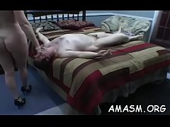 Hot girlie gets off with big boner