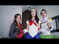 Anime teens group fuck and suck at cosplay party