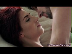 Redhead model fucked deeply and passionately