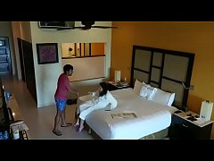 Hidden camera caught sex with girlfriend in hotel room