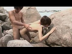 Asian beach fuck