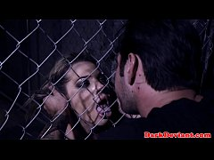 Caged sexslave humiliated and throated