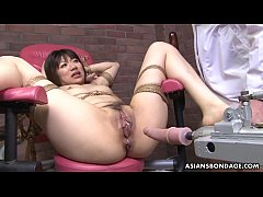 Asian mature fucked by sex machine