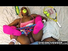 Innocent Black Spinner Neck Choked  And Fucked Rough For Gambling On Tennis Match , Petite Big Boobs Msnovember Missionary Fucking HD On Sheisnovember