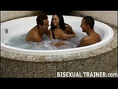 Join us in the hot tub for a little bisexual fun
