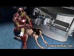 Foxy 3D brunette getting fucked hard by Iron Ma...