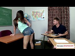 Natalie decides to fuck her tutor for the answers video