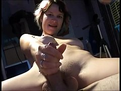 Amateur Couple Share Dildo while she Strokes him off
