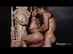 Deeper. Queen Katrina Jade Intense Anal With Her Slave