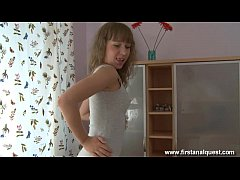 FirstAnalQuest.com - GIRL GETTING FUCKED IN THE ASS IS A TOTAL TEEN CUTIE