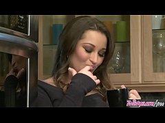 (Dani Daniels) Relaxes with a cup of coffee and a vibrator - Twistys