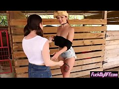 Country teens enjoy fingering in hot outdoor lesbian sex