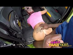 Female Fake Taxi Masked fare fucks hot tattooed Milf with big black cock